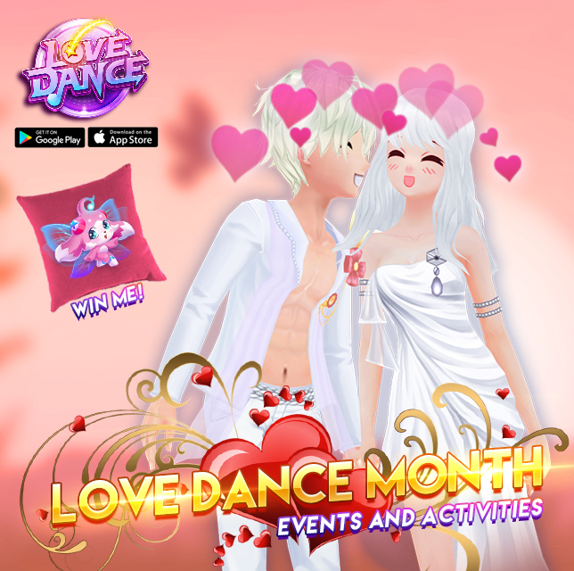 LOVE DANCE MONTH CELEBRATION - Free Mobile Games | Cubizone Mobile